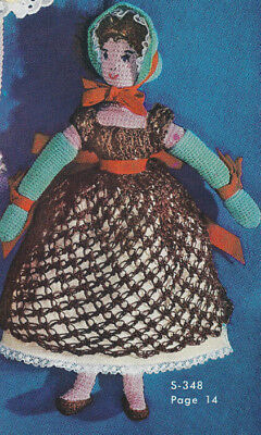 Vintage Crochet Pattern Old Fashioned Soft Doll Clothes