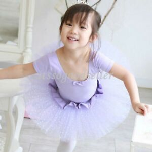 Girl-New-Party-Polka-Dot-Ballet-Tutu-Costume-Dress-3-8Y