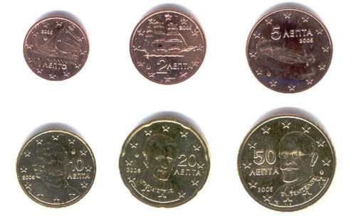 Greece 2006 Maxi Set of 6 UNC
