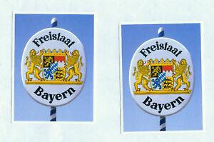 2 Aufkleber  Freistaat Bayern Bayern - Schild