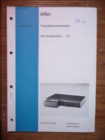 Manual De Servicio Brown C 2 , Original -  - ebay.es