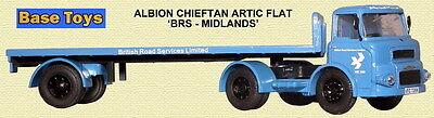 Base Toys Da19 Albion Lad Artic F/bed Brs Blue 1/76 Scale/oo Gauge T48