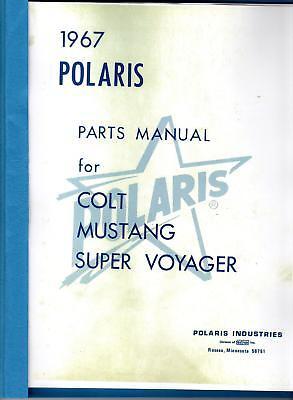 1967 POLARIS SNOWMOBILE PARTS MANUAL COLT, MUSTANG