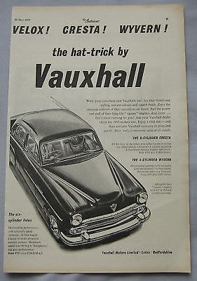 1955 Vauxhall Velox, Cresta & Wyvern Original advert No.1