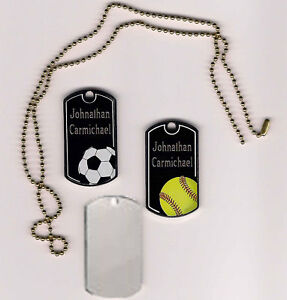 Black beauty engraved sports id tags dog tags great gift ebay
