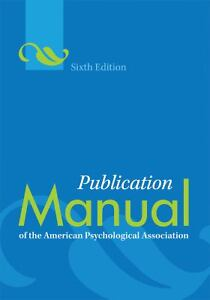 Publication Manual of the American Psych...