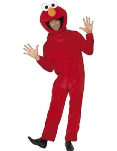Adult Mens Sesame Street Elmo Fancy Dress Costume 38-42