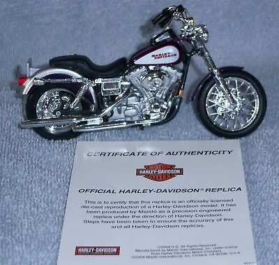 Maisto Harley-davidson 2001 Dyna Low Rider 787044 Coa
