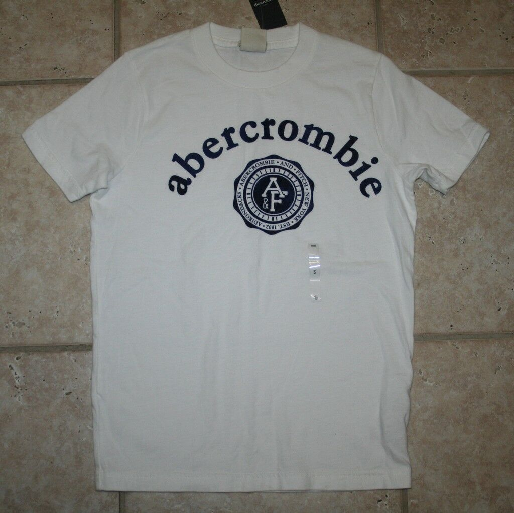 Abercrombie Boys Small Ss Muscle Fit White T-shirt