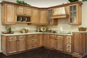Kitchen Cabinet Set : Details about Savannah Maple Kitchen Cabinets - 10X10 Cabinet Set