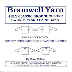 KNITTING MACHINE 4 PLY FAMILY PATTERN BOOK SIZES 45cm - 125cm BROTHER KNITMASTER