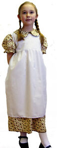 Girls-Victorian-Edwardian-FLORAL-DRESS-AND-PINNEY-SET-Costume-all-ages