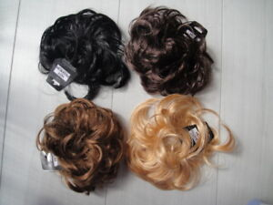 Blk-Brown-Blonde-hair-scrunchie-bun-ponytail-extension