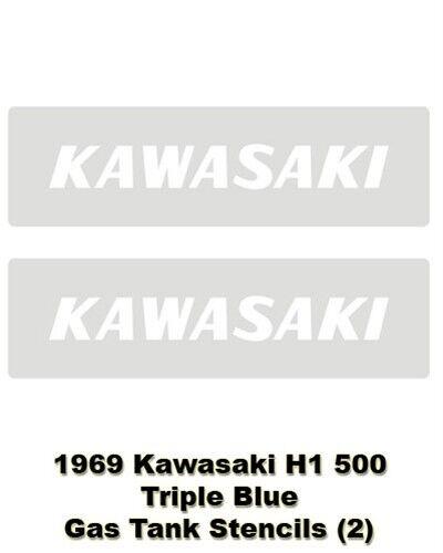 Kawasaki Gas Tank Stencils Decal H1 500 0144