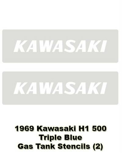 Kawasaki Gas Tank Stencils Decal H1 500 0144