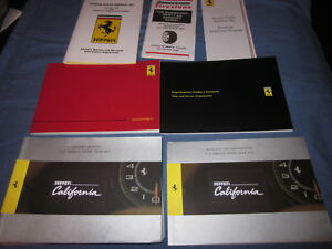 2010-FERRARI-CALIFORNIA-OWNERS-MANUAL-SET-NEW-W-CASE