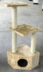 3-Perch-Beige-Cat-Tree-Condo-Cat-Tower-Cat-Scratching-Furniture-in-Canada