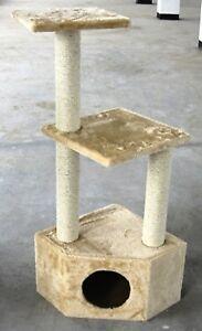 3-Perch-Beige-Cat-Tree-Condo-Cat-Tower-Cat-Scratching-Furniture-in-Canada
