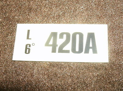 1970 Ford Mustang 428cj 4sp Engine Code Decal Sticker