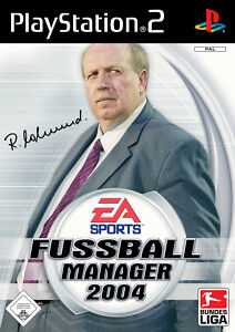 Fußball Manager 2004 (Sony PlayStation 2, 2003, DVD-Box)