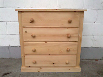 Pine Factory Clearance Soild Pine 4 Drawer Chest Solid Pine No Flat Packs