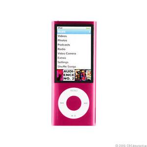 Apple-iPod-nano-5th-Generation-Pink-16-GB-Bundle-Blue-Protective-Case-USED