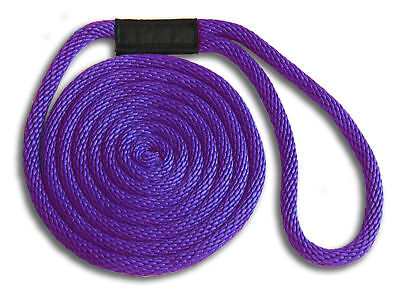 5/8 X 10' Solid Braid Nylon Dock Lines - Purple - Made In Usa