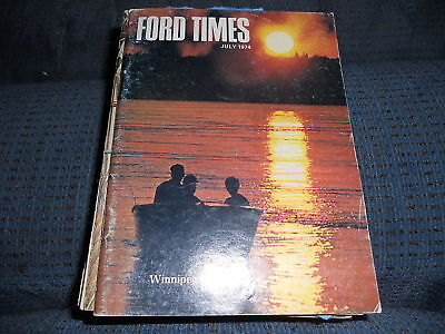 1974 Ford Pinto Ford Times Dealer Magazine 7-1974