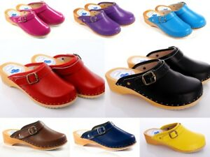 UNIQUE-HAND-MADE-CLOG-WOODEN-SOLE-GENUINE-LEATHER-D4