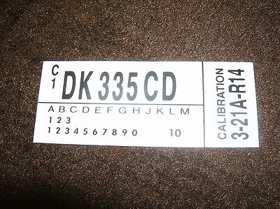 1983 Ford Mustang Gt 302 Engine Code Decal Dk335cd