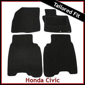 Honda Civic Mk8 2006 2007 2008 3 & 5-door Tailored Fitted Carpet Car Mats BLACK