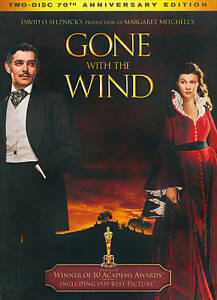 GONE-WITH-THE-WIND-Clark-Gable-NEW-2-DISC-70TH-ANNIVERSARY-SET-DVD