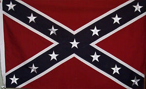 SEWN COTTON  3' X 5' REBEL FLAG - CLASSIC CONFEDERATE - CIVIL WAR - DIXIE