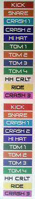 1-PACK Roland V-Drum Cable Label Sticker Decal TD