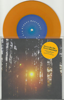 Deerhoof Xiu Xiu Almost Only 2000 Made Rsd 7 Inch Orange Vinyl Record Store Day