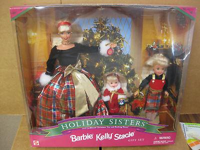 Mattel Barbie Holiday Sisters Barbie Kelly Stacie 1998 Toys