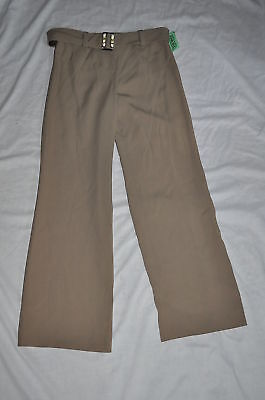 Carlisle 18 Palm Brown Womens Pants Slacks Belt $345 Free Shipping