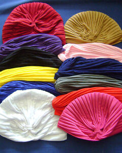 NEW-6-HEAD-WRAP-INDIAN-STYLE-TURBAN-HAT-U-CHOOSE-COLOUR