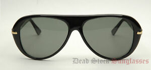 80s-Vintage-PLASTIC-RETRO-AVIATOR-Sunglasses-BLACK