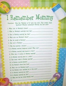details about lot 24 baby shower party memory game remember mommy