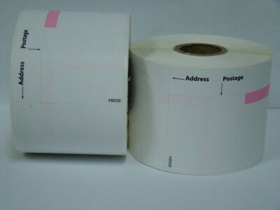 2 Rolls Of Dymo Labelwriter Compatible 30384 2-part Postage Labels 150 Pr