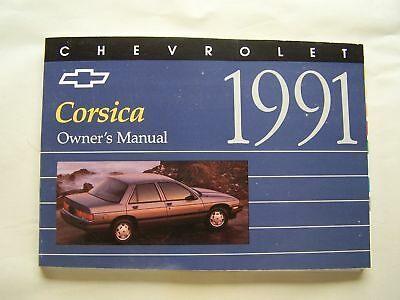 1991 Chevy Corsica Owners Manual Parts Service