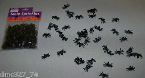 144 HALLOWEEN Decor Plastic SPIDER TABLE SCATTERS