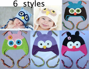Cute-Gorgeous-Baby-Toddler-girl-Owl-Hat-Beanie-Cap-New
