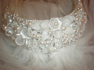 2 TIER CATHEDRAL LENGTH BRIDAL VEIL TIARA HEADPIECE