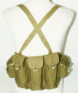 ORIGINAL-VIETNAM-WAR-CHINESE-TYPE-56-AK-CHEST-RIG-AMMO-POUCH-31144