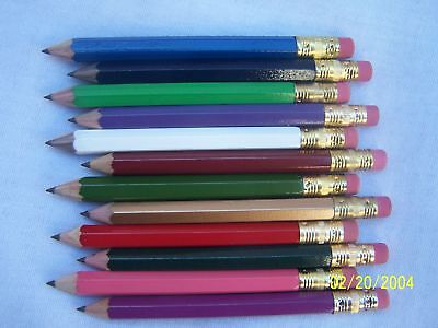 72 assorted Personalized Golf Pencils W/erasers