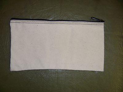 1 Brand New Heavy Natural Canvas Bank Deposit Money Bag