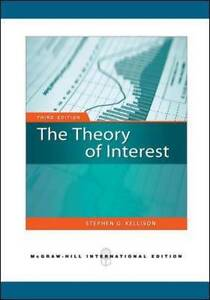 Theory of Interest by Stephen G. Kellison (Paperback, 2008)