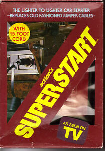 Vintage-1984-SuperStart-Lighter-Car-Jumper-Cables-NIB